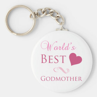 World's Best Godmother (Heart) Key Ring