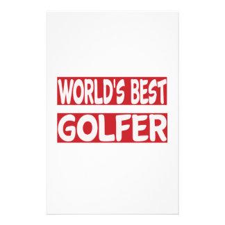World's Best Golfer. Stationery