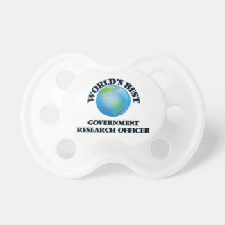 World's Best Government Research Officer BooginHead Pacifier