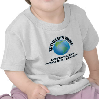 World's Best Government Research Officer T-shirts