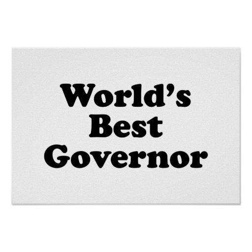 World's Best Governor Print