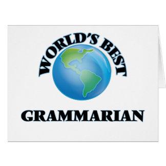 World's Best Grammarian Card