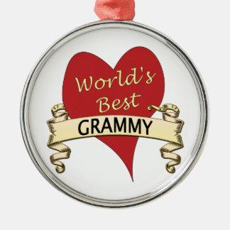 World's Best Grammy Christmas Ornament