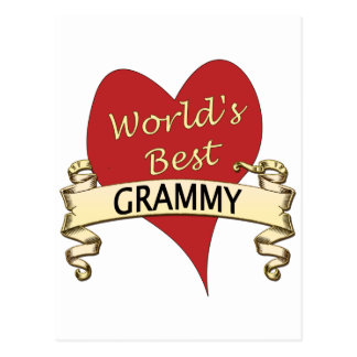 World's Best Grammy Postcard