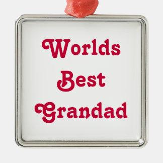Worlds Best Grandad Medal hanging ornament