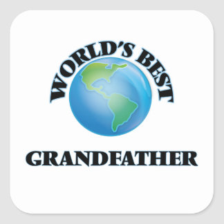 World's Best Grandfather Square Stickers