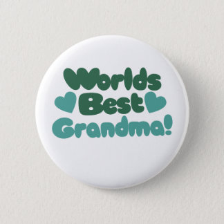Worlds Best Grandma 6 Cm Round Badge