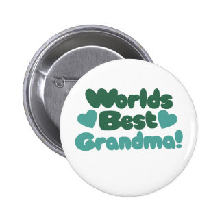 Worlds Best Grandma 6 Cm Round Badge