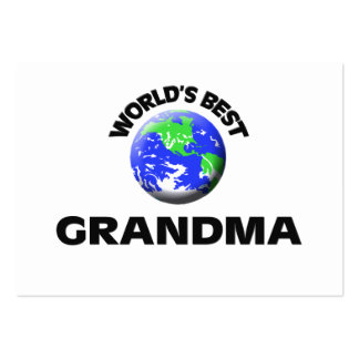 World's Best Grandma Large Business Cards (Pack Of 100)