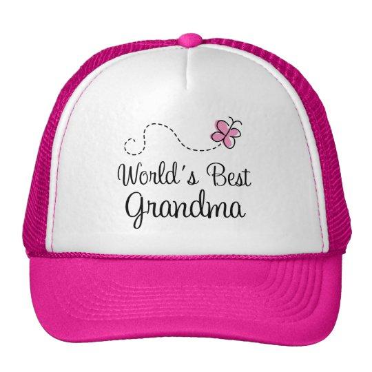 World's Best Grandma Butterfly Gift Cap