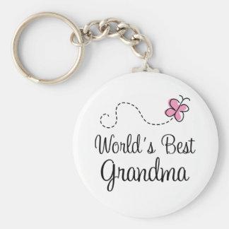 World's Best Grandma Butterfly Gift Key Ring