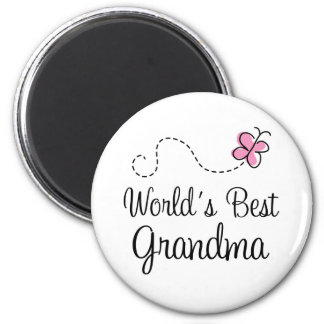World's Best Grandma Butterfly Gift Refrigerator Magnet