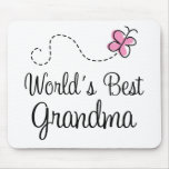 World's Best Grandma Butterfly Gift Mouse Pad
