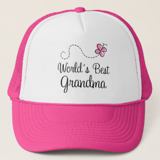 World's Best Grandma Butterfly Gift Trucker Hat