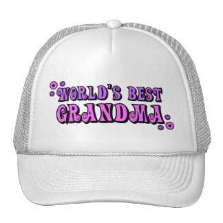 World's Best Grandma Trucker Hats