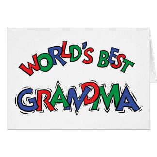 World's Best Grandma Greeting Card