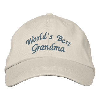 World's Best Grandma Cute Embroidered Cap