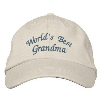 World's Best Grandma Cute Embroidered Hat