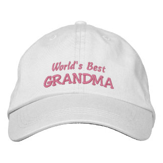 World's Best GRANDMA-Grandparent's Day OR Birthday Embroidered Baseball Caps
