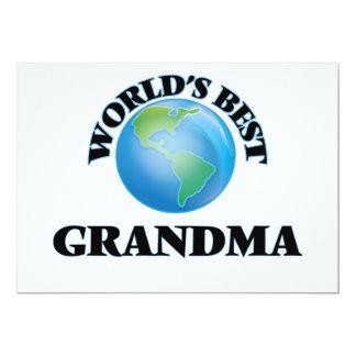 """World's Best Grandma 5"""" X 7"""" Invitation Card"""