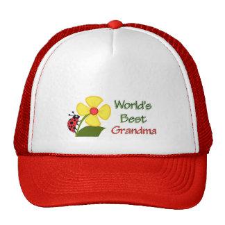 Worlds Best Grandma - Ladybug Cap