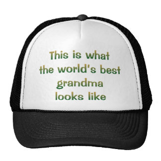 World's Best Grandma Looks Like Hat