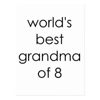 worlds best grandma of 8.png postcard