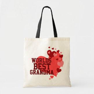 Worlds Best Grandma Personalized Tote Bag