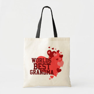 Worlds Best Grandma Personalized Tote Bags