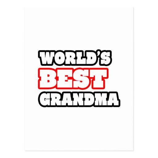 World's Best Grandma Postcards