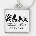 World's Best Grandma sparrows silhouette branch