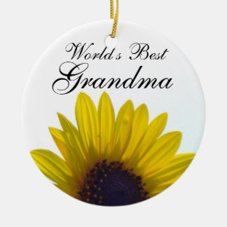 World's Best Grandma Sunflower Ornament