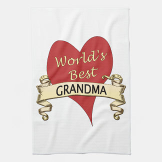 World's Best Grandma Tea Towel