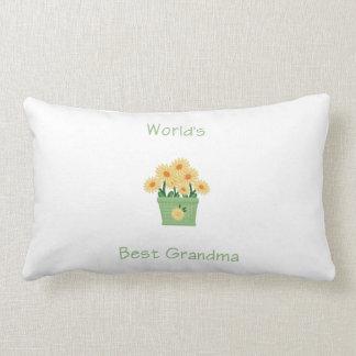 world's best grandma (yellow flowers) throw pillow