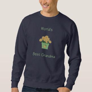 world's best grandma (yellow flowers) sweatshirt
