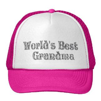 WORLD'S BEST GRANDMA- ZEBRA  PRINT-HAT CAP