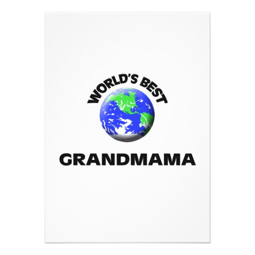 World's Best Grandmama Invites