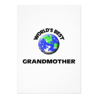 World's Best Grandmother Custom Invitations