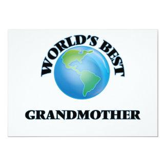 "World's Best Grandmother 5"" X 7"" Invitation Card"