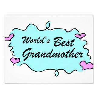 Worlds Best Grandmother Custom Invites