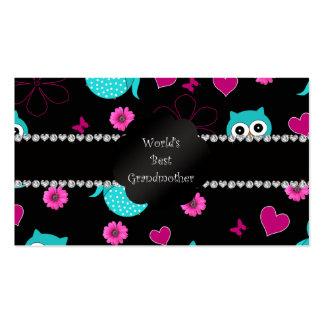 World's best grandmother owls business card templates
