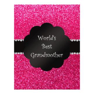 World's best grandmother pink glitter custom flyer