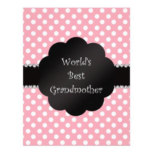 World's best grandmother pink polka dots flyer