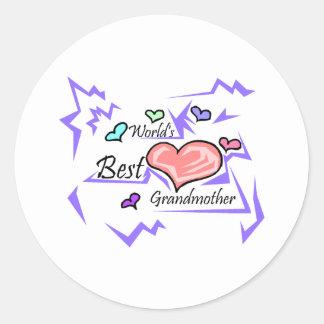World's Best Grandmother Round Sticker
