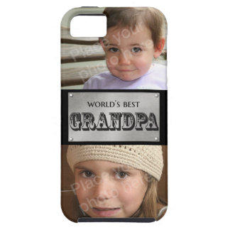 World's Best Grandpa - Custom 2 photos Tough iPhone 5 Case