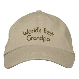 World's Best Grandpa Cute Embroidered Hat