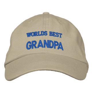 WORLDS BEST GRANDPA EMBROIDERED BASEBALL CAP