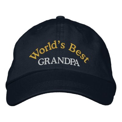 World's Best Grandpa Embroidered Baseball Cap/Hat