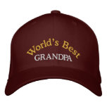 World's Best Grandpa Embroidered Baseball Cap/Hat Embroidered Hat