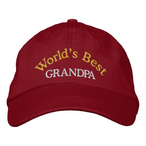 World's Best Grandpa Embroidered Baseball Cap/Hat Embroidered Hats